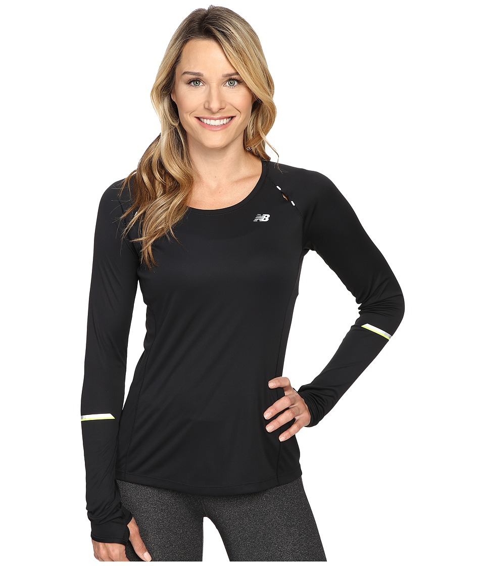 New Balance - NB Ice Long Sleeve Shirt (Black) Women's Long Sleeve Pullover