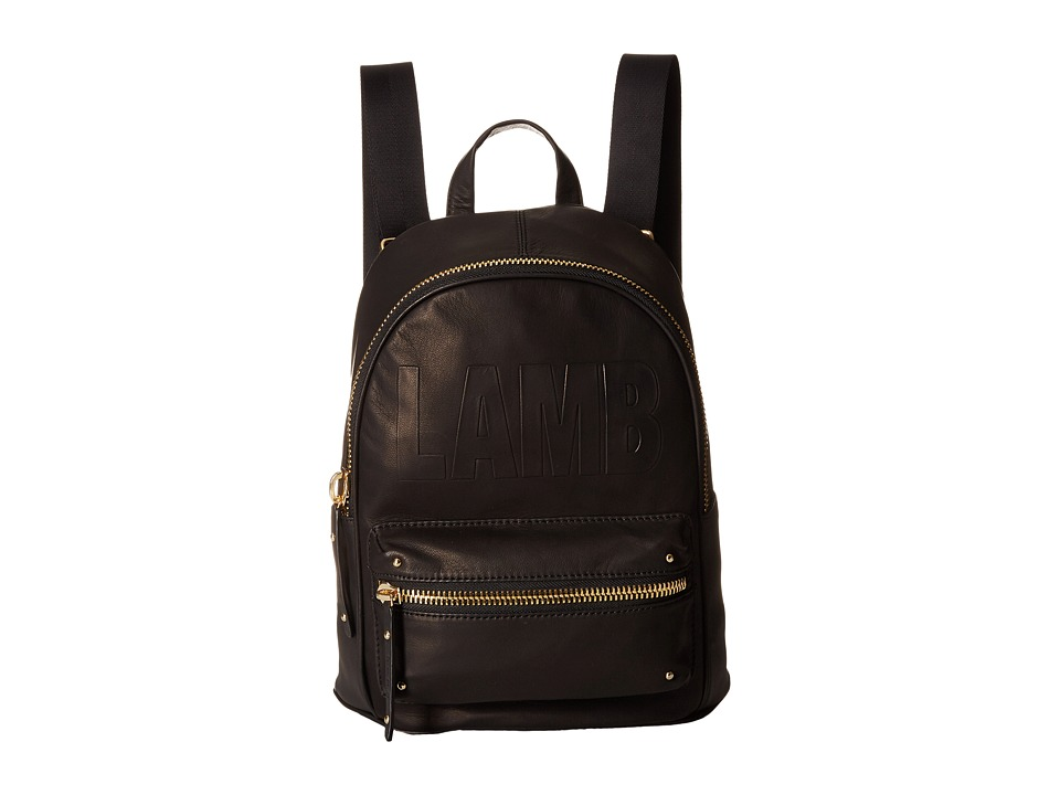 L.A.M.B. - Iban Backpack (Black Leather) Backpack Bags