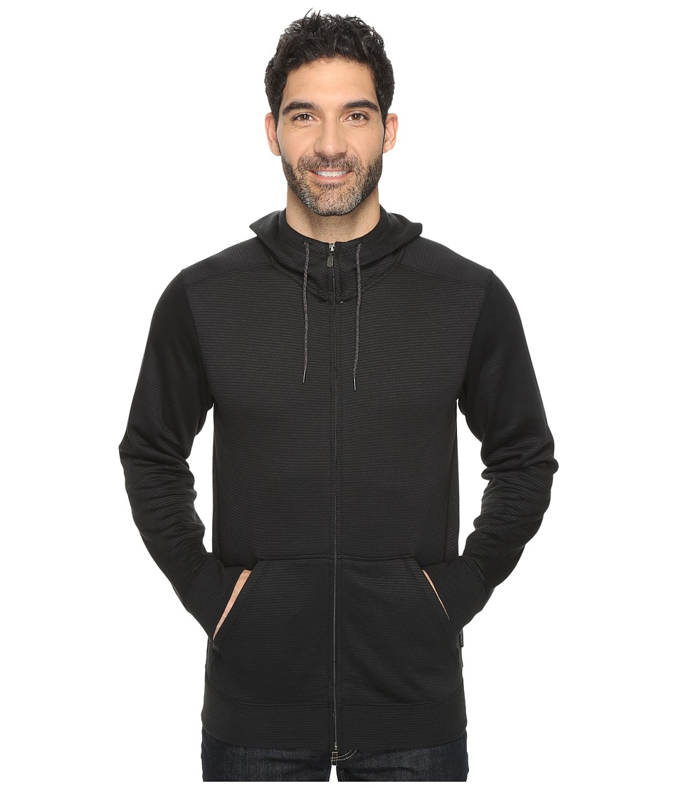 ExOfficio - Isoclime Full Zip Hoodie (Black) Men's Sweatshirt