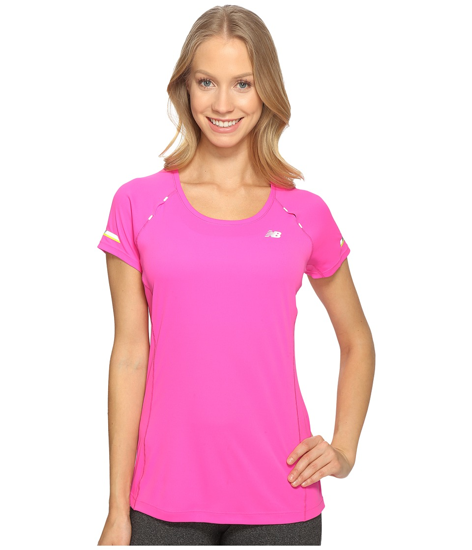 New Balance - NB Ice Short Sleeve Shirt (Fusion) Women's Short Sleeve Pullover