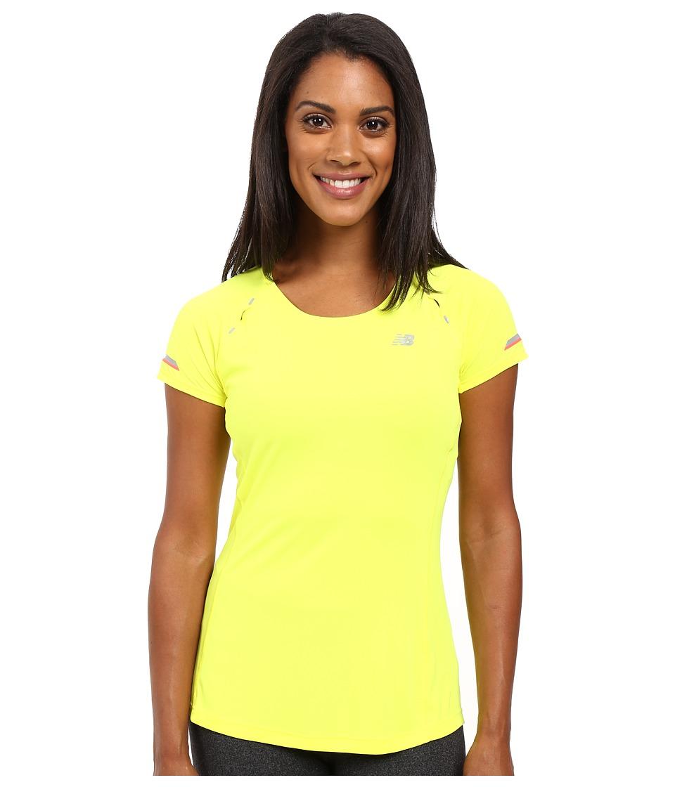 New Balance - NB Ice Short Sleeve Shirt (Firefly) Women's Short Sleeve Pullover