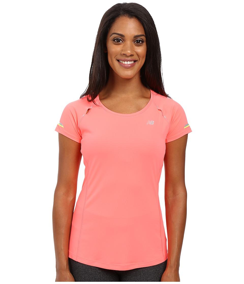 New Balance - NB Ice Short Sleeve Shirt (Guava) Women's Short Sleeve Pullover