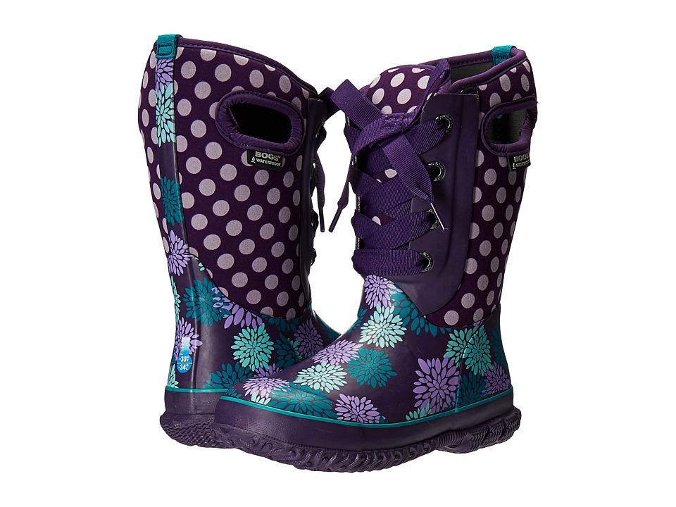 Bogs Kids - Casey Pompoms Dots (Toddler/Little Kid/Big Kid) (Grape Multi) Girls Shoes