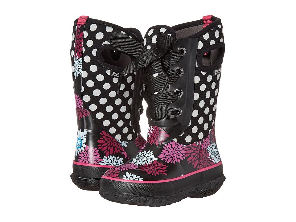 Bogs Kids - Casey Pompoms Dots (Toddler/Little Kid/Big Kid) (Black Multi) Girls Shoes