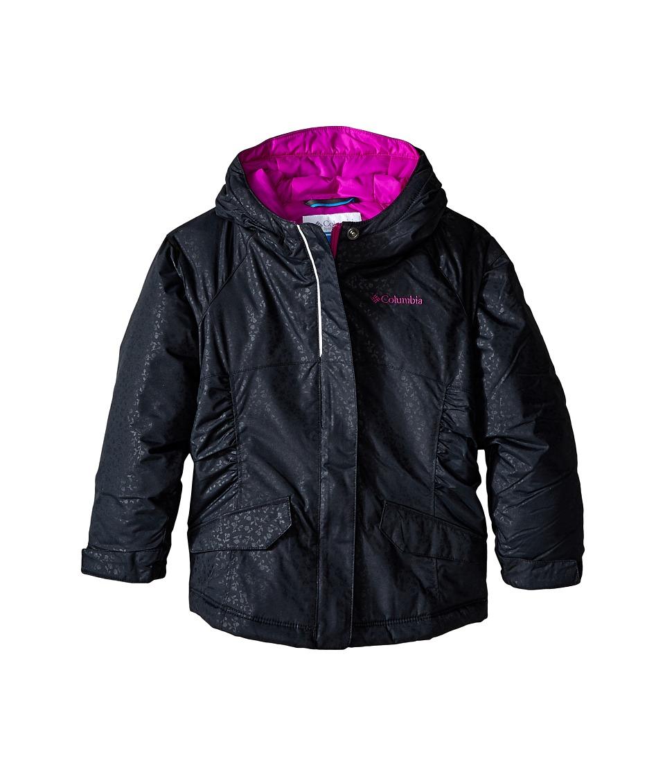 Columbia Kids - Razzmadazzle Jacket (Toddler) (Black Emboss/Bright Plum) Girl's Coat