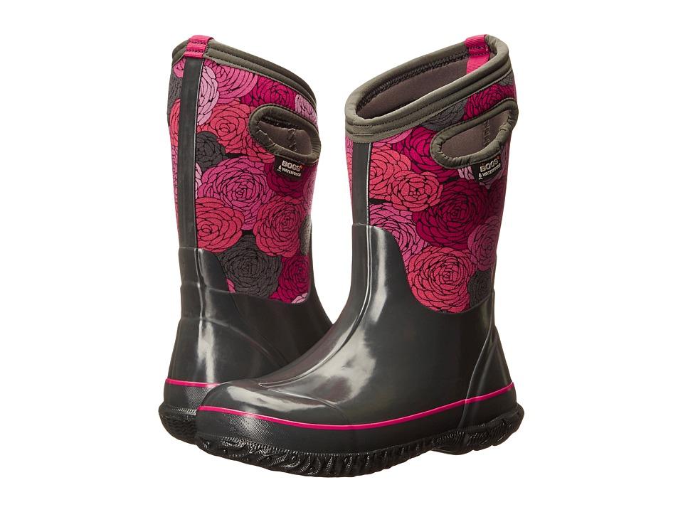 Bogs Kids - Classic Rosey (Toddler/Little Kid/Big Kid) (Dark Gray Multi) Girls Shoes