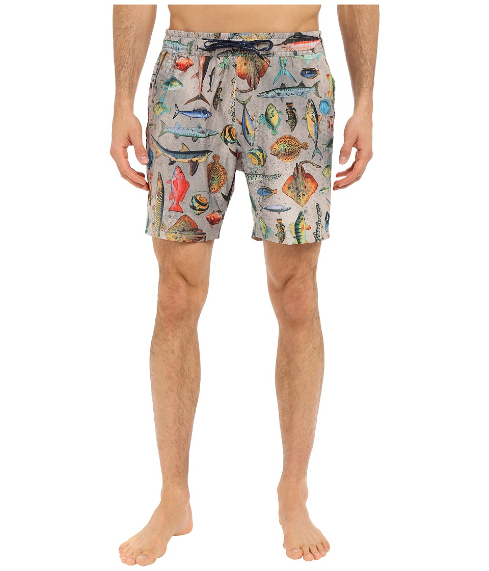 Sperry Top-Sider - Swimmin' with Da Fish Volley Shorts (Multi) Men's Swimwear
