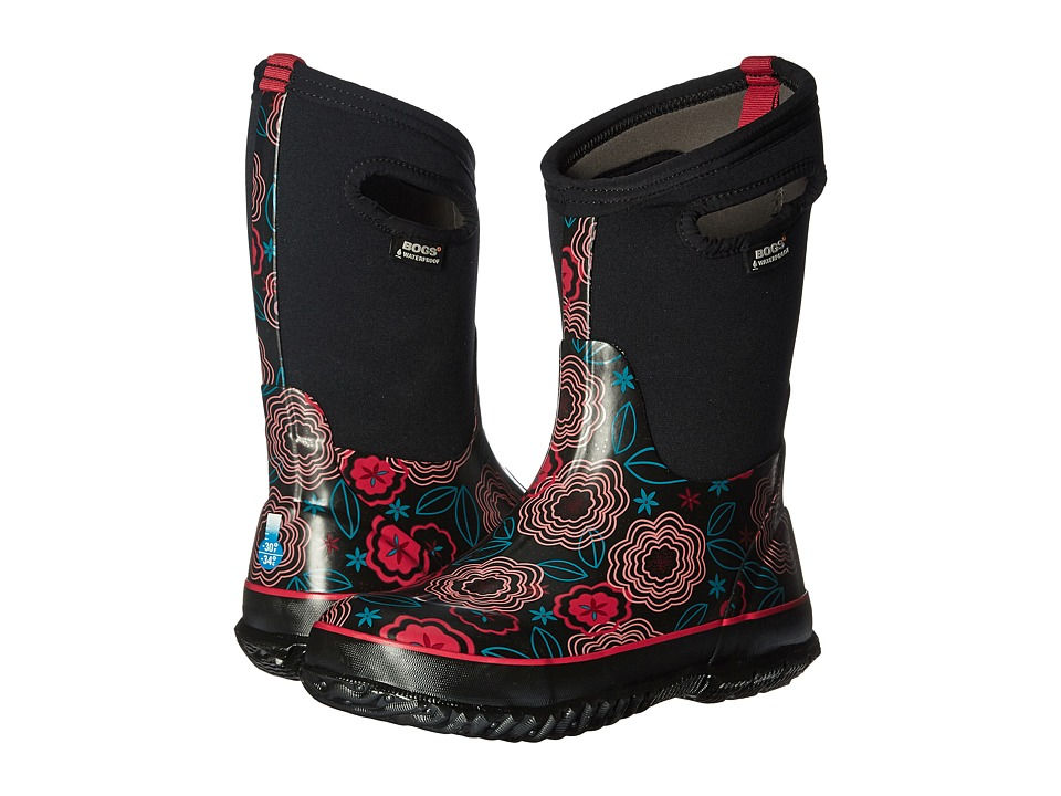 Bogs Kids - Classic Posey (Toddler/Little Kid/Big Kid) (Black Multi) Girls Shoes