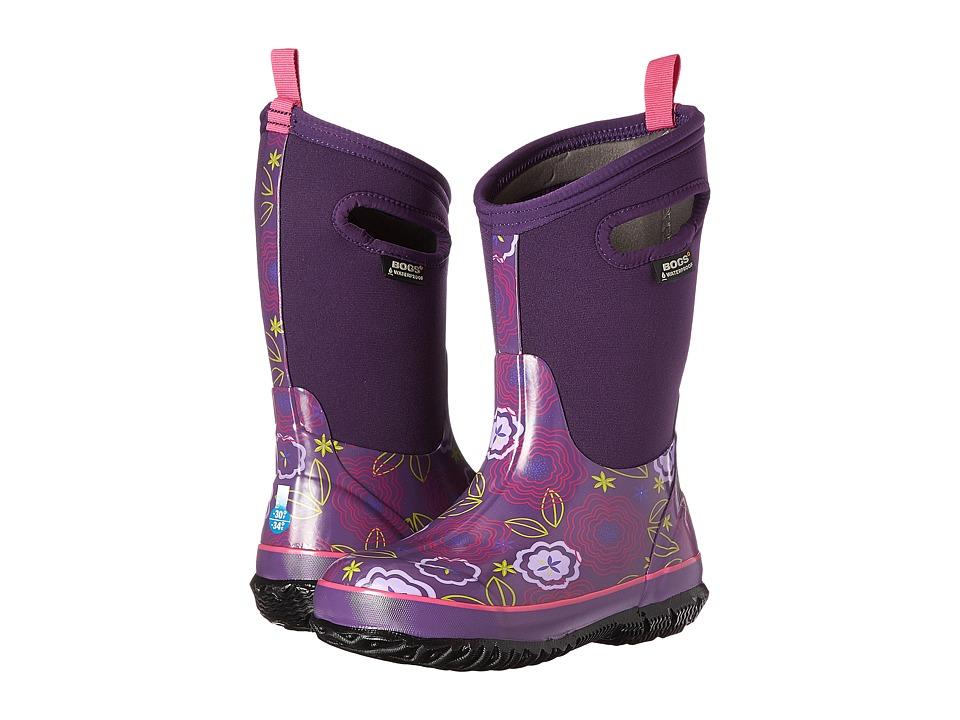 Bogs Kids - Classic Posey (Toddler/Little Kid/Big Kid) (Grape Multi) Girls Shoes