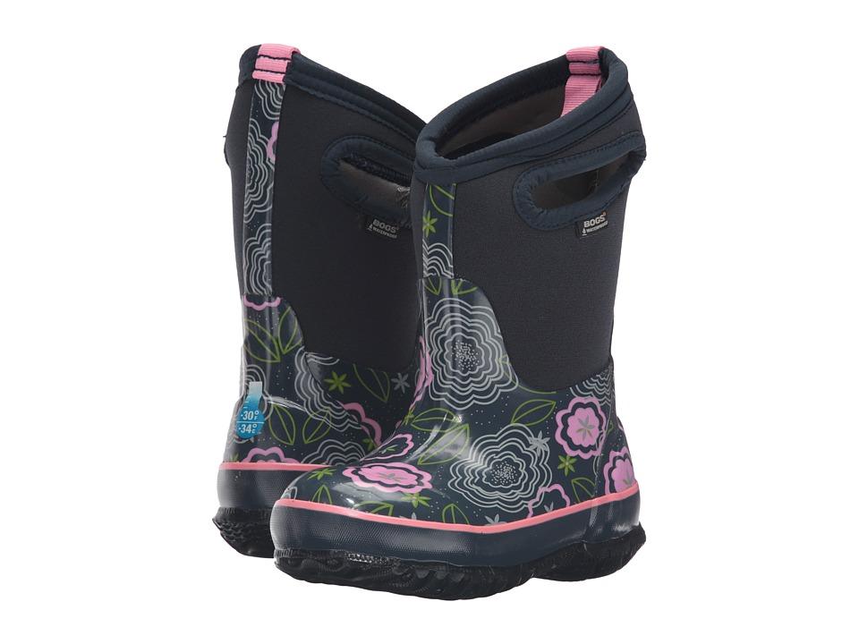 Bogs Kids - Classic Posey (Toddler/Little Kid/Big Kid) (Dark Blue Multi) Girls Shoes