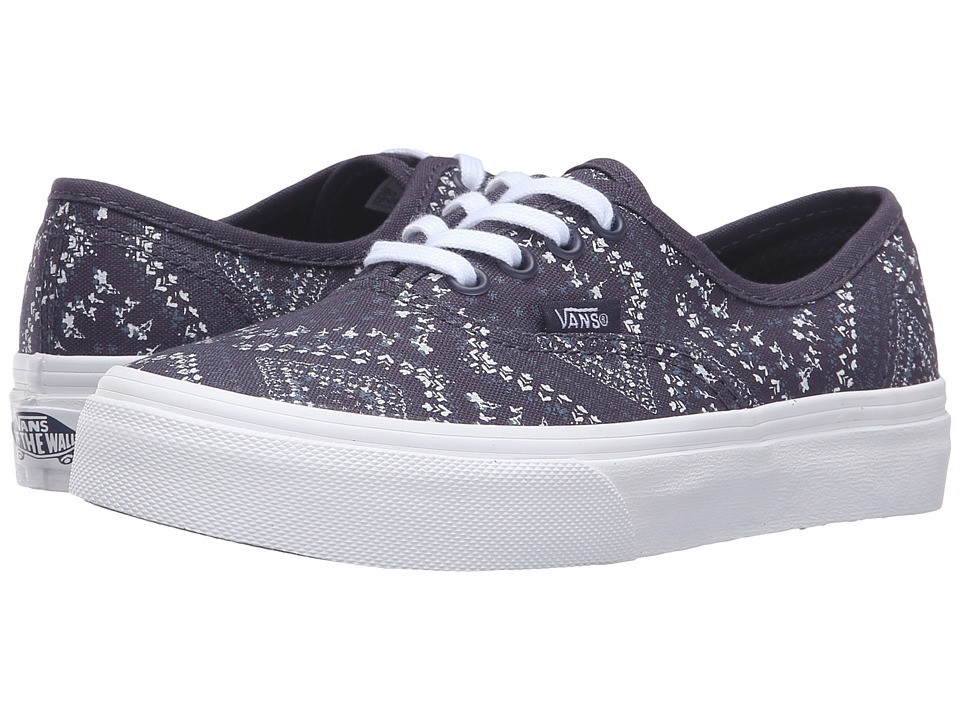 Vans Kids - Authentic (Little Kid/Big Kid) ((Ditsy Bandana) Parisian Night) Girls Shoes