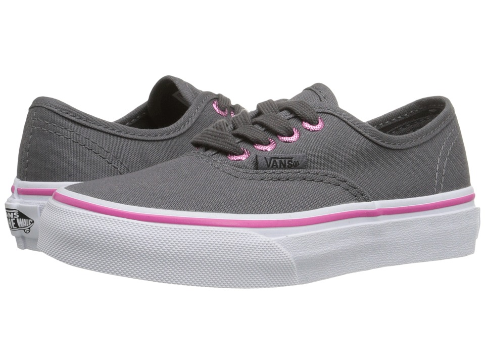 Vans Kids - Authentic (Little Kid/Big Kid) ((Multi Eyelets) Perf/Hot Pink) Girls Shoes
