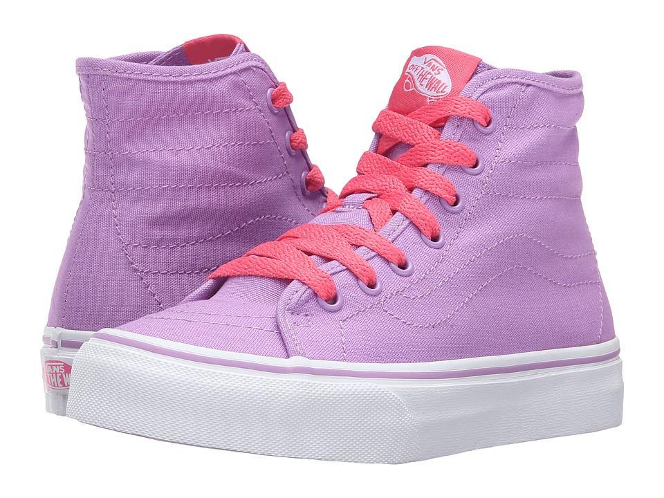 Vans Kids Sk8-Hi Decon (Little Kid/Big Kid) ((Pop) African Violet/Camellia Rose) Girls Shoes