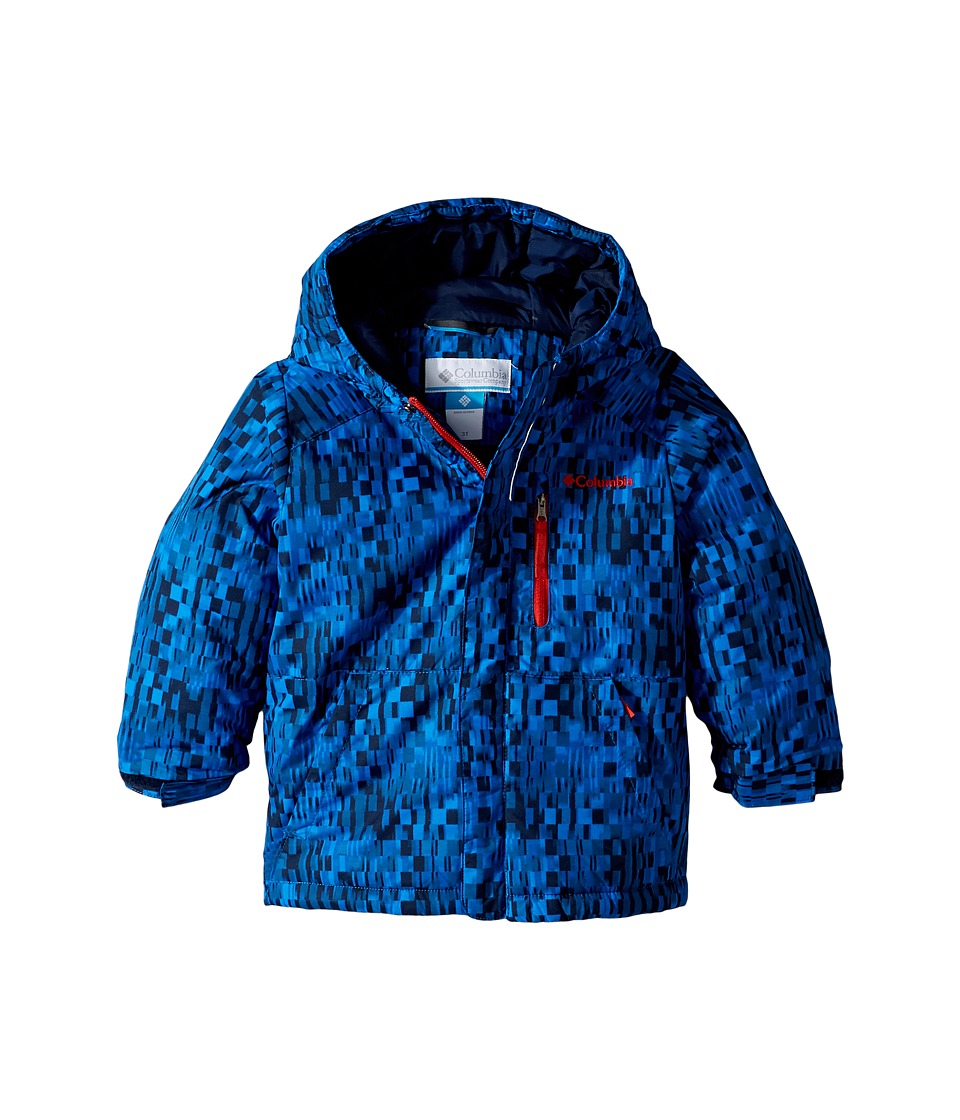 Columbia Kids - Lightning Lift Jacket (Toddler) (Collegiate Navy Geo Block/Collegiate Navy/Super Sonic) Boy's Coat
