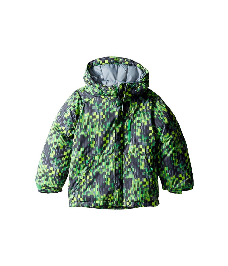 Columbia Kids - Lightning Lift Jacket (Toddler) (Green Mamba Geo Block/Grey Ash/Fuse Green) Boy's Coat