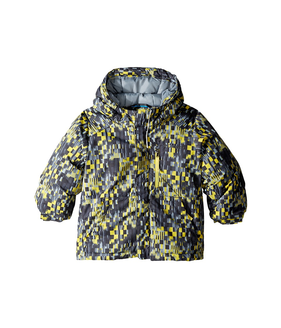 Columbia Kids - Lightning Lift Jacket (Toddler) (Mineral Yellow Geo Block/Grey Ash/Mineral Yellow) Boy's Coat