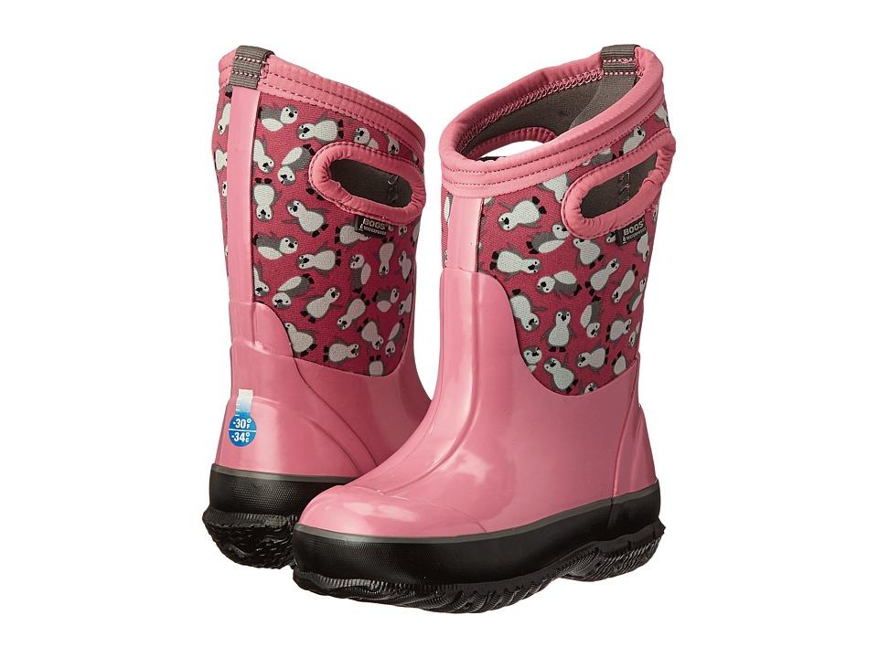 Bogs Kids - Classic Penguins (Toddler/Little Kid/Big Kid) (Pink Multi) Girls Shoes
