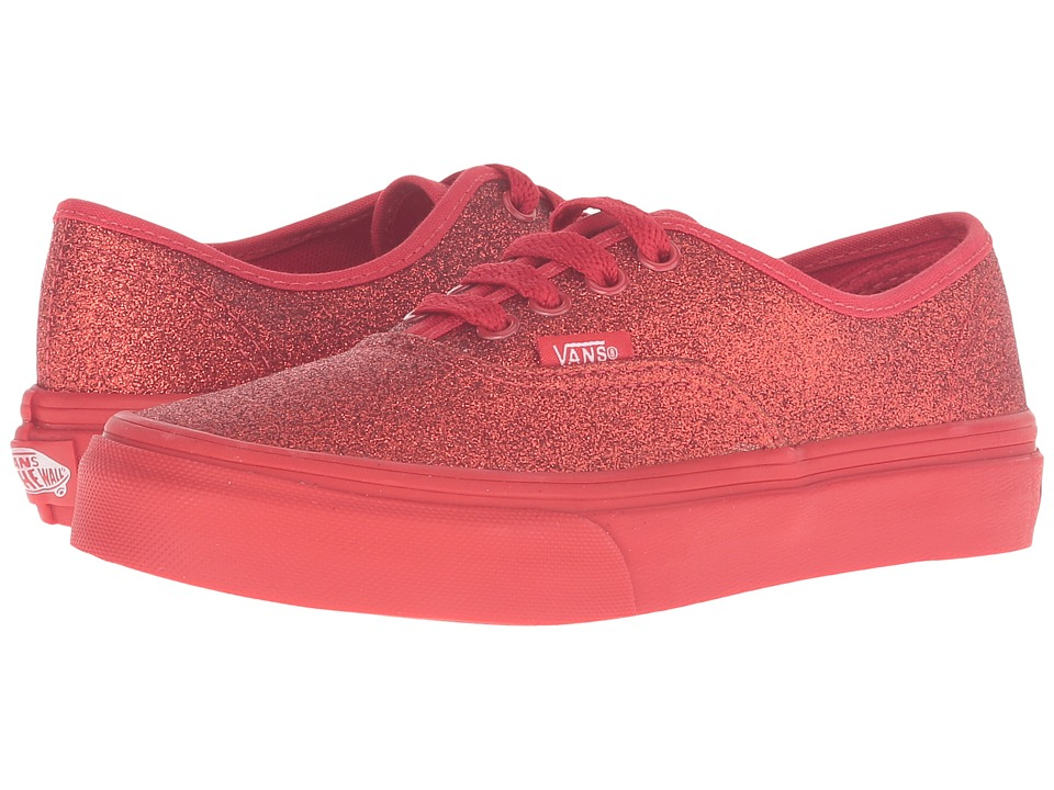 Vans Kids - Authentic (Little Kid/Big Kid) ((Shimmer) Red) Girls Shoes