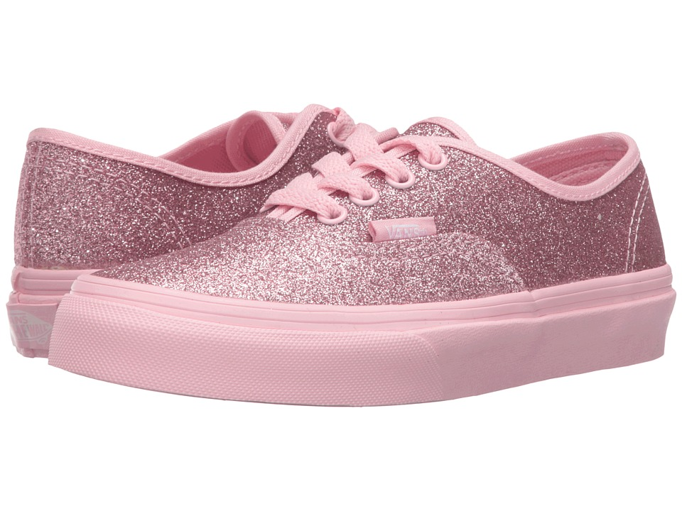 Vans Kids - Authentic (Little Kid/Big Kid) ((Shimmer) Bright Pink) Girls Shoes