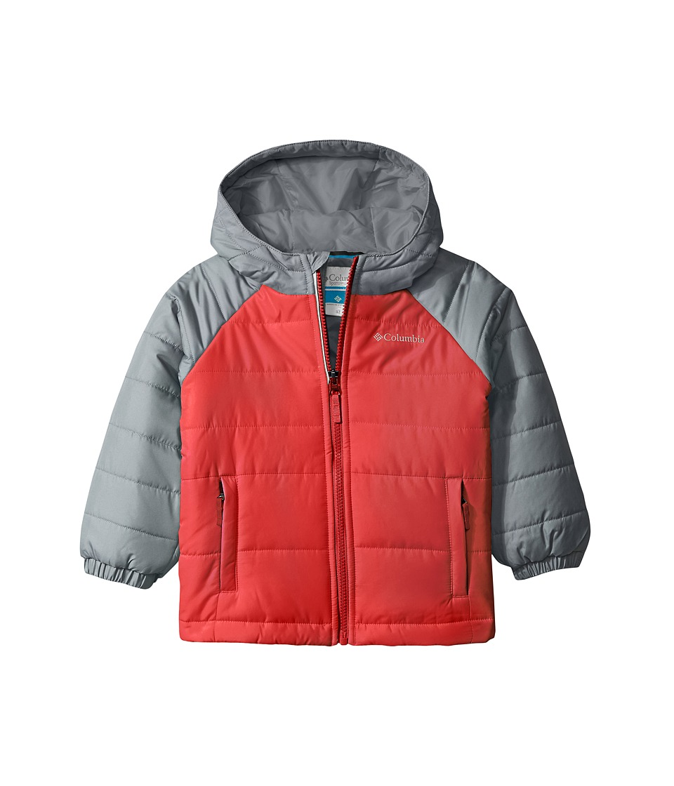 Columbia Kids - Tree Time Puffer Jacket (Toddler) (Mountain Red/Grey Ash) Boy's Coat