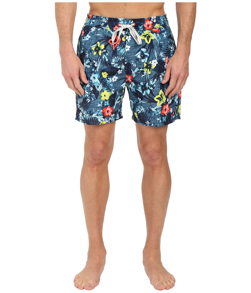 Sperry - Floral Reef Volley Shorts (Ink Blue) Men's Swimwear