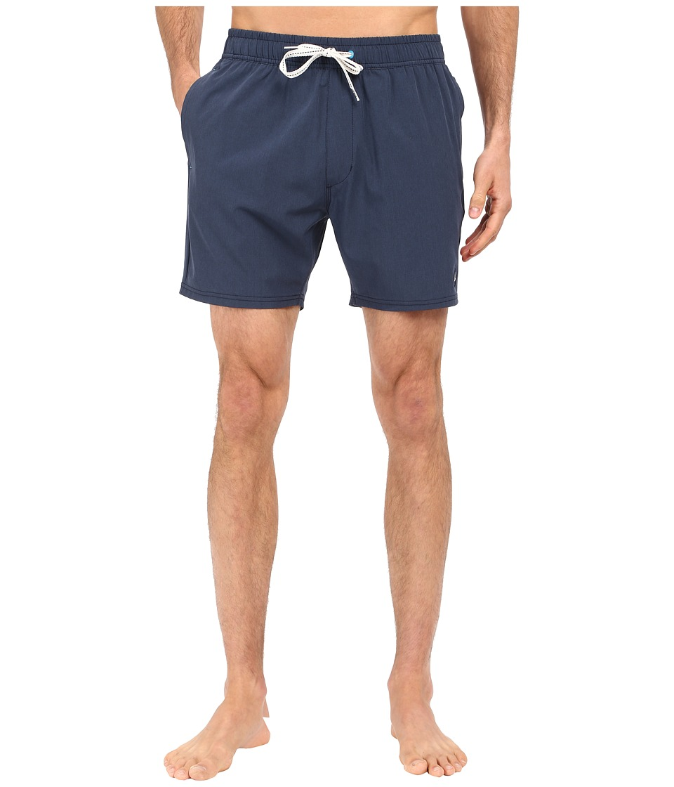 Sperry - Do Me a Solid Volley Shorts (Ink Blue) Men's Swimwear