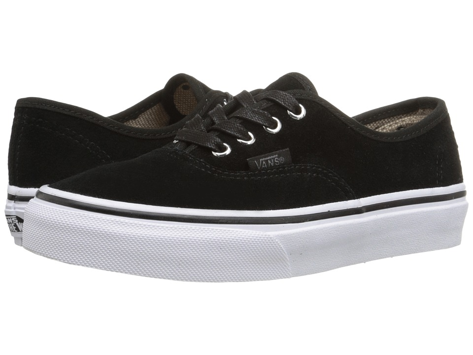 Vans Kids - Authentic (Little Kid/Big Kid) ((Suede) Black/Tweed Dots) Girls Shoes