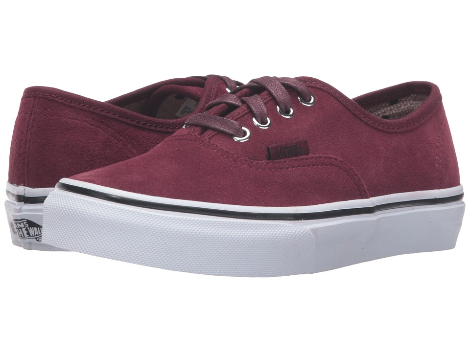Vans Kids - Authentic (Little Kid/Big Kid) ((Suede) Port Royale/Tweed Dots) Girls Shoes