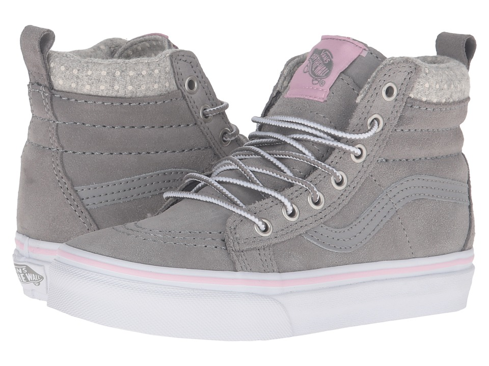 Vans Kids - SK8-Hi MTE (Little Kid/Big Kid) ((MTE) Wild Dove/True White) Girls Shoes