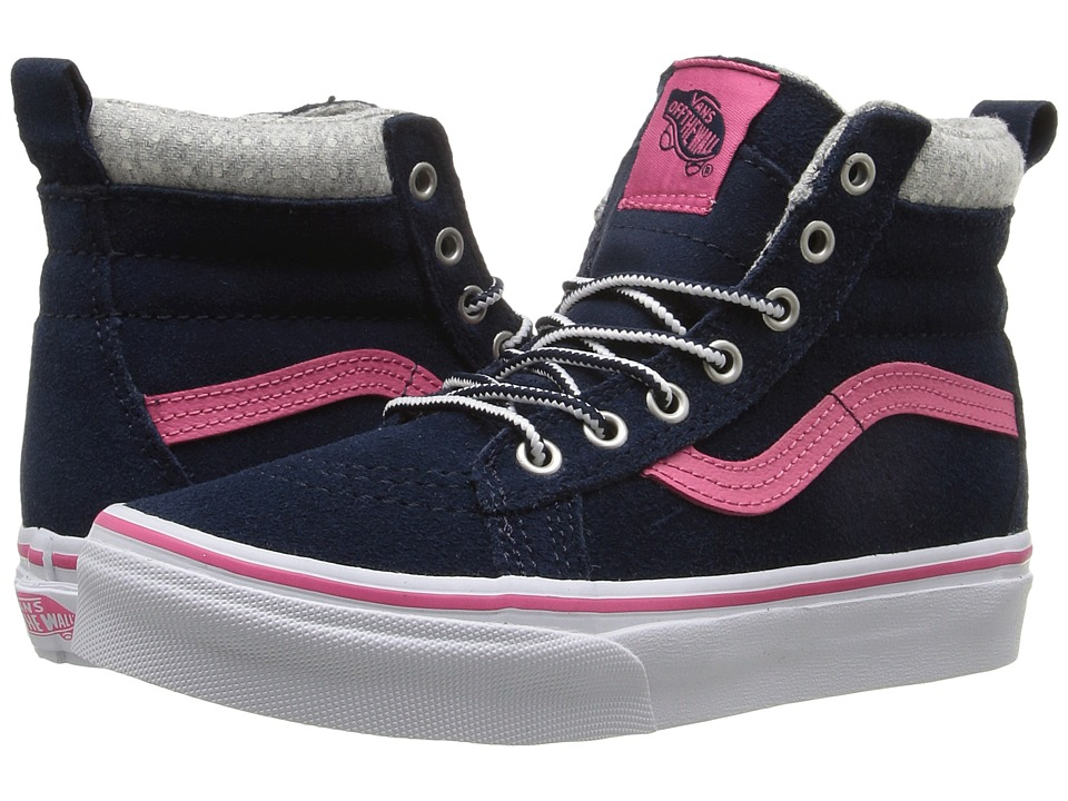 Vans Kids - SK8-Hi MTE (Little Kid/Big Kid) ((MTE) Navy/Pink) Girls Shoes
