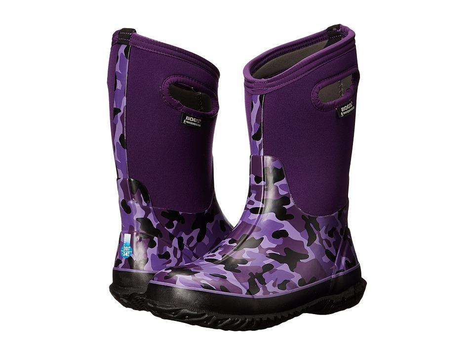 Bogs Kids - Camo (Toddler/Little Kid/Big Kid) (Purple Multi) Girls Shoes