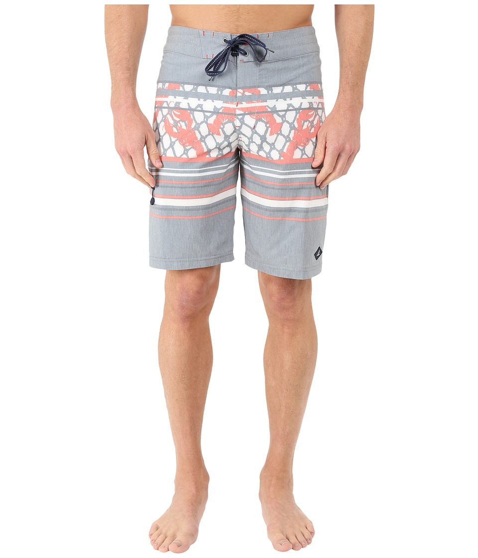 Sperry Top-Sider - Surf the Net Boardshorts (Gunmetal) Men's Swimwear