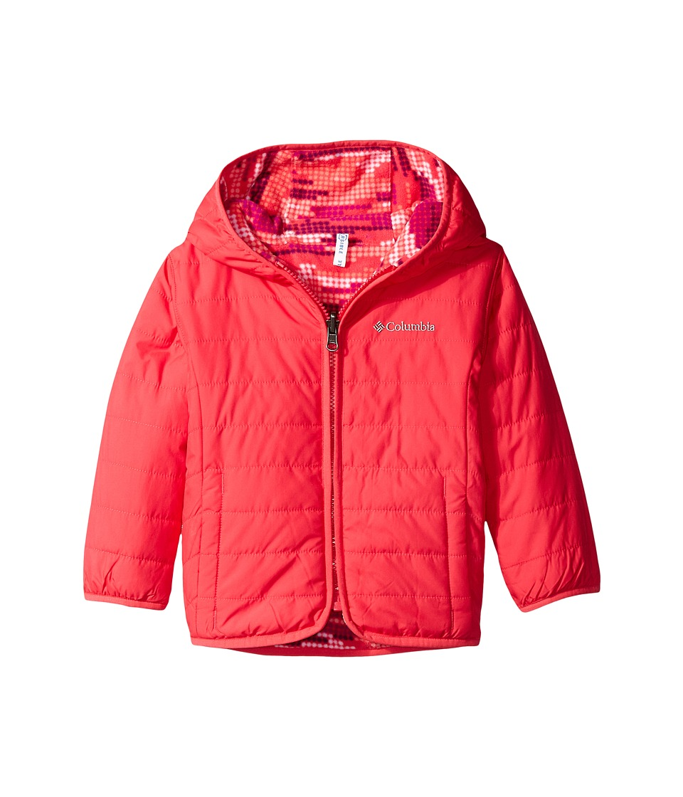 Columbia Kids - Double Trouble Jacket (Toddler) (Punch Pink Dot Print) Kid's Coat