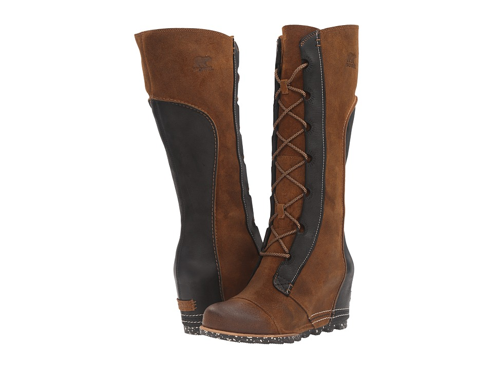 SOREL - Cate the Great Wedge (Elk) Women's Dress Boots