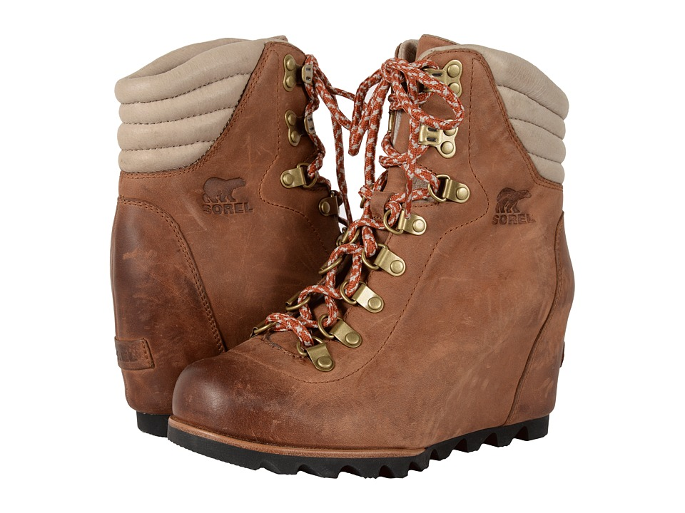 SOREL - Conquest Wedge (Elk) Women's Lace-up Boots