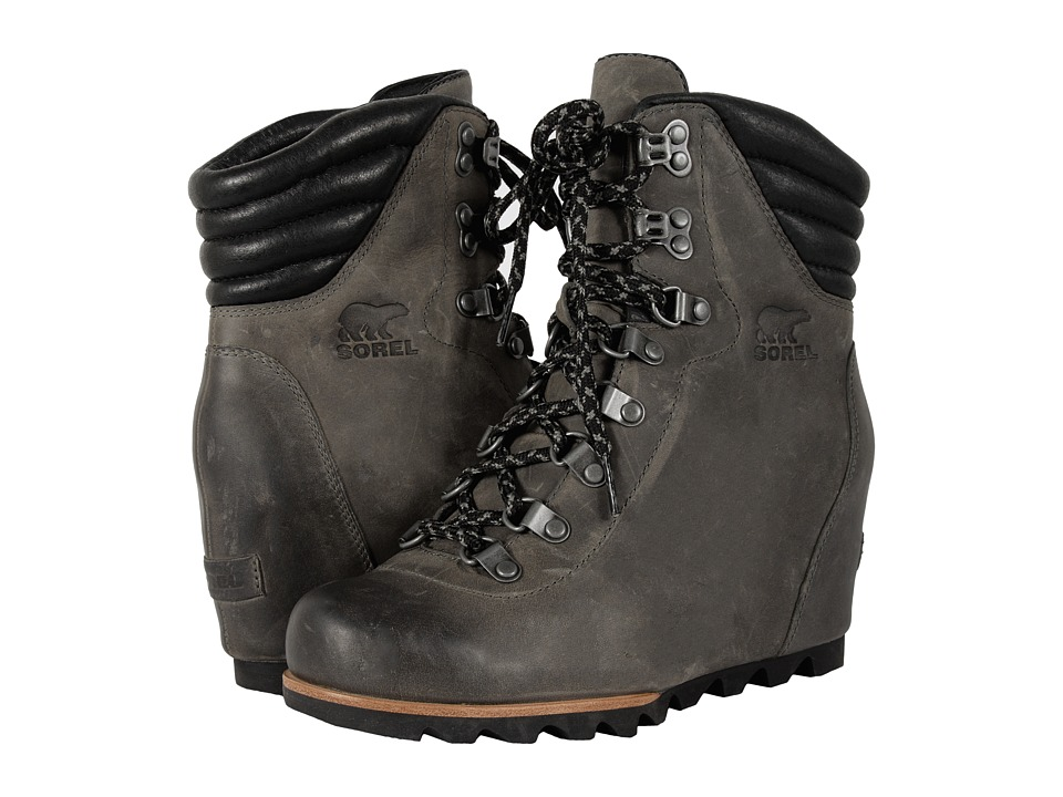 SOREL - Conquest Wedge (Quarry) Women's Lace-up Boots
