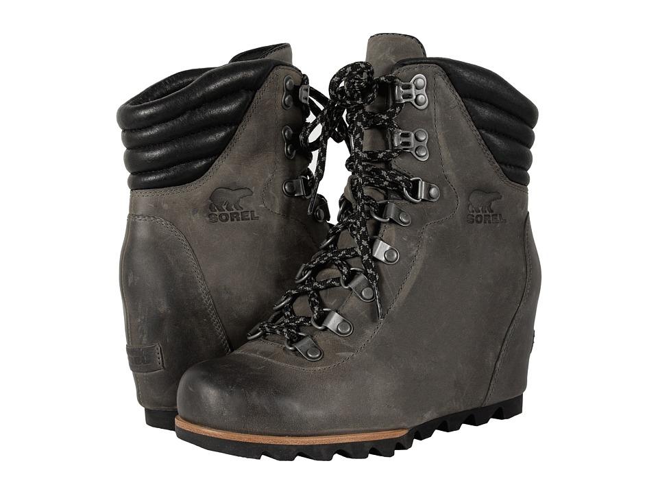 SOREL - Conquest Wedge (Quarry) Women's Lace-up Boots