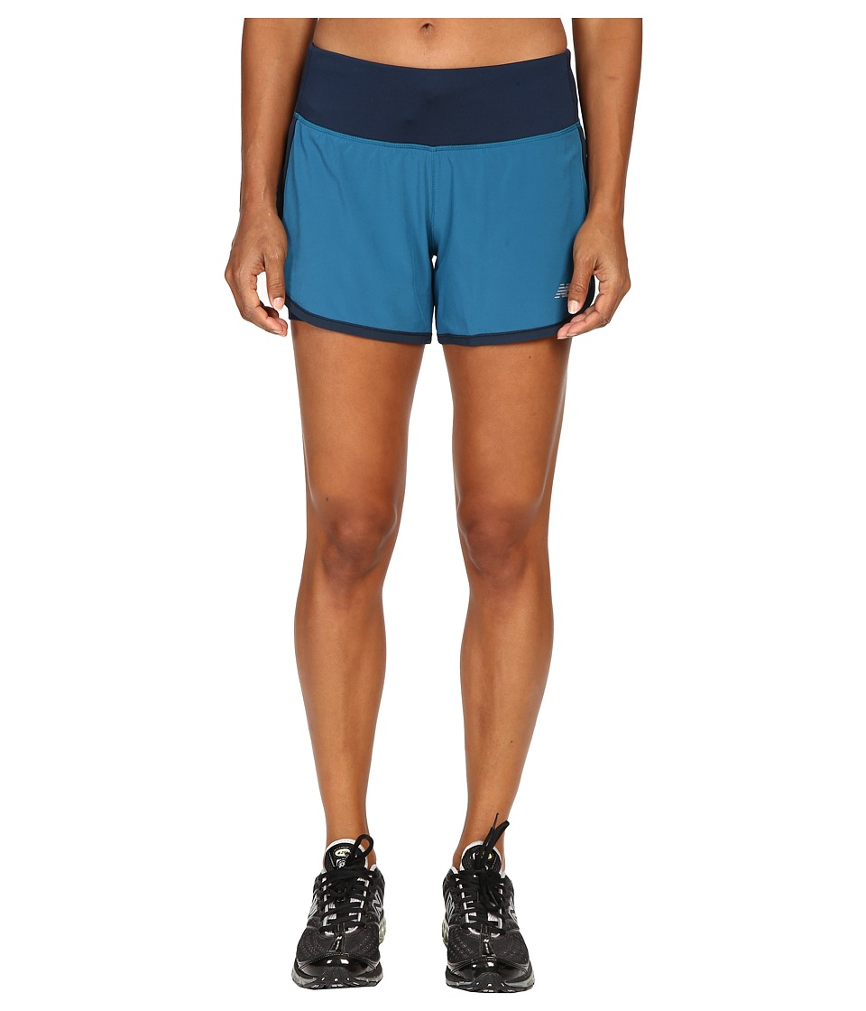New Balance - Impact 4 2-in-1 Shorts (Castaway/Galaxy) Women's Shorts