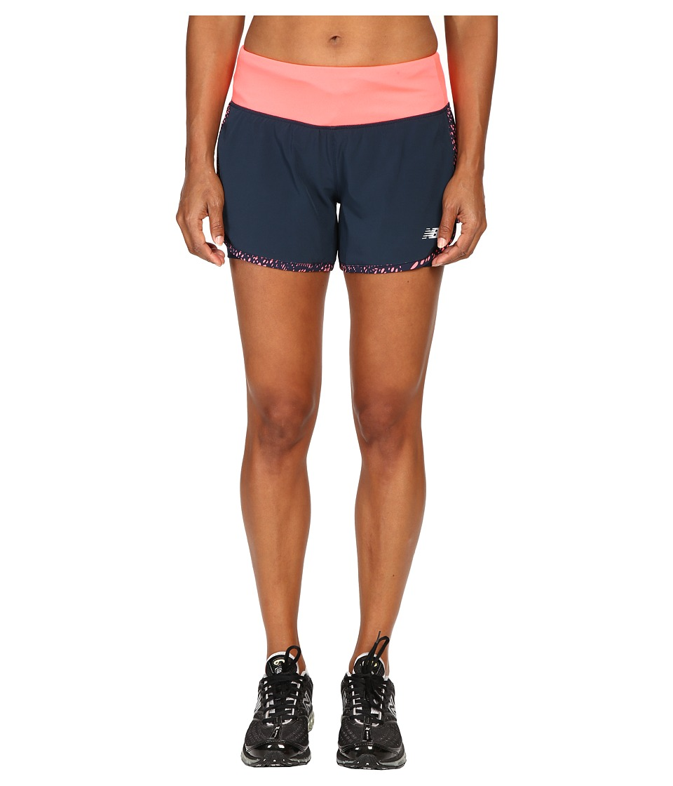 New Balance - Impact 4 2-in-1 Shorts (Guava/Galaxy) Women's Shorts