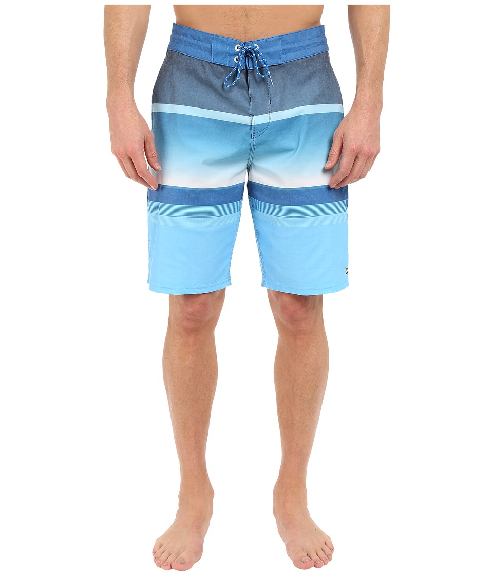 Billabong - Spinner Lo Tides 21 Boardshorts (Blue) Men's Swimwear