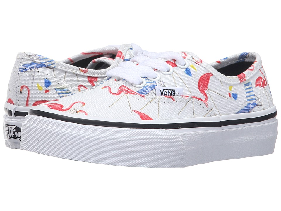 Vans Kids - Authentic (Little Kid/Big Kid) ((Pool Vibes) Classic White/True White) Girls Shoes