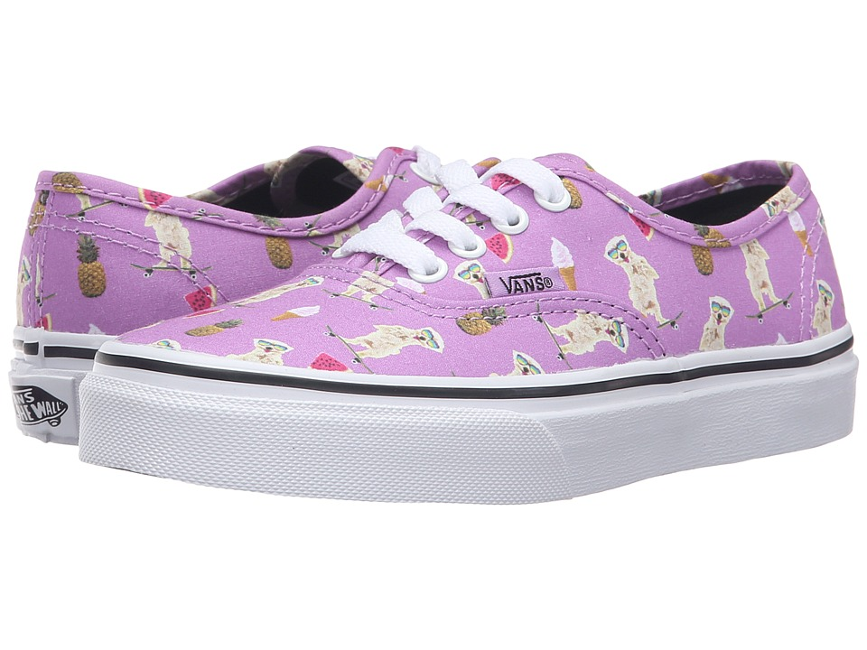 Vans Kids - Authentic (Little Kid/Big Kid) ((Pool Vibes) African Violet/True White) Girls Shoes