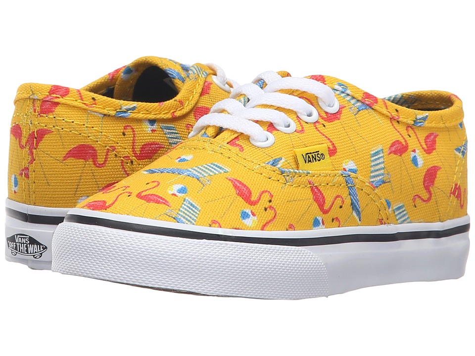 Vans Kids - Authentic (Toddler) ((Pool Vibes) Cyber Yellow/True White) Girls Shoes