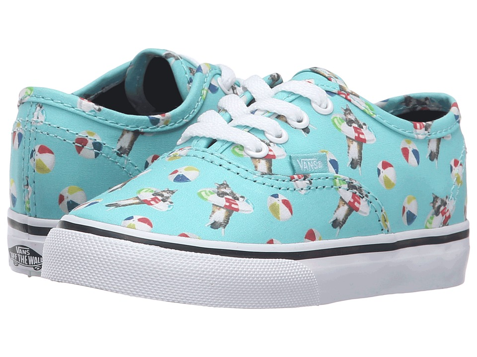 Vans Kids - Authentic (Toddler) ((Pool Vibes) Aqua Sea/True White) Girls Shoes