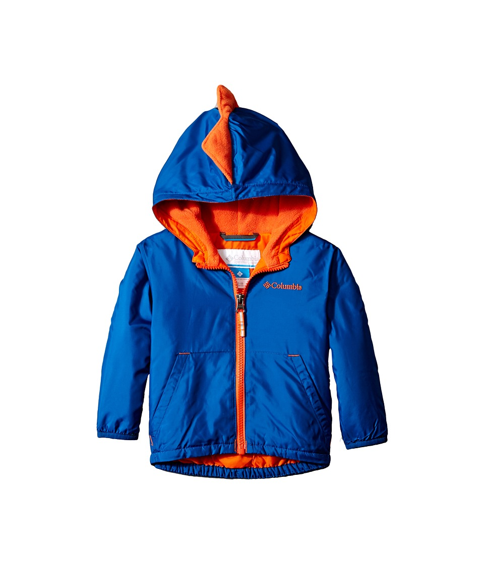 Columbia Kids - Kitterwibbit Jacket (Infant/Toddler) (Marine Blue/Tangy Orange) Kid's Coat