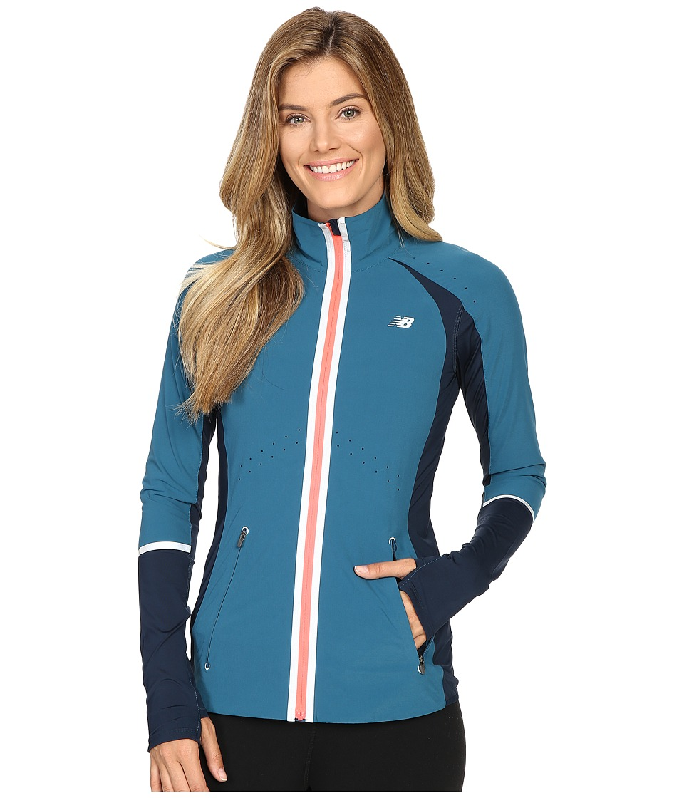 New Balance - Precision Run Jacket (Castaway/Guava) Women's Coat