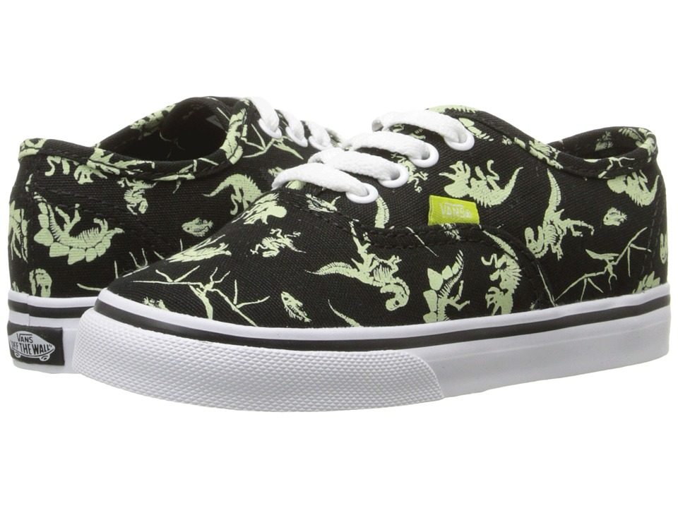 Vans Kids - Authentic (Toddler) ((Glow in the Dark) Dinosaur/Black) Boys Shoes