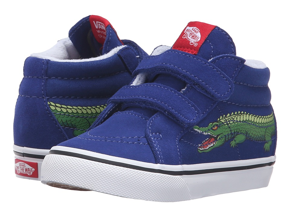 Vans Kids - Sk8-Mid Reissue V (Toddler) ((Reptile Sidestripe) Crocodile/Sodalite Blue) Boys Shoes