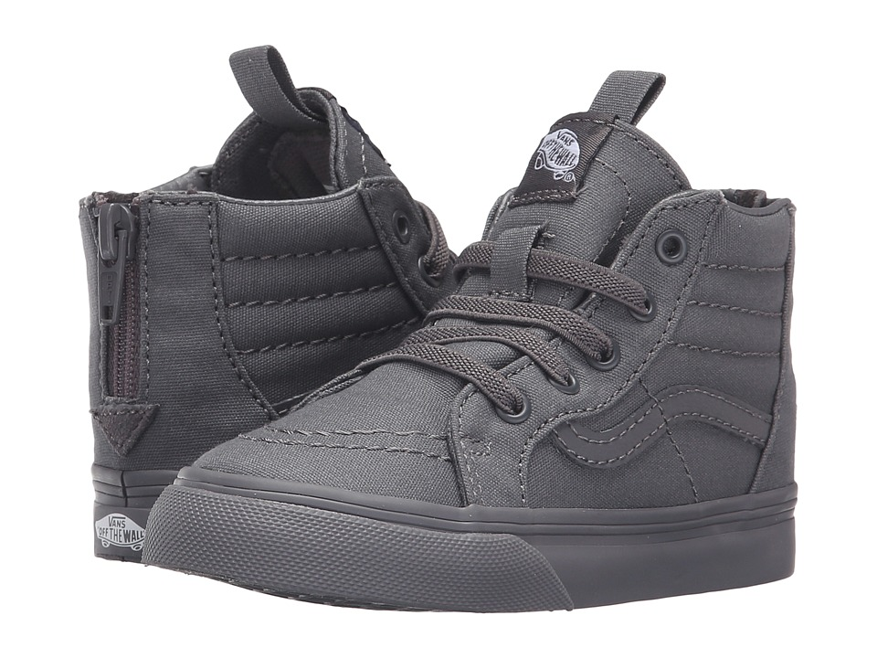 Vans Kids - Sk8-Hi Zip Canvas (Toddler) ((Mono) Tornado) Boys Shoes