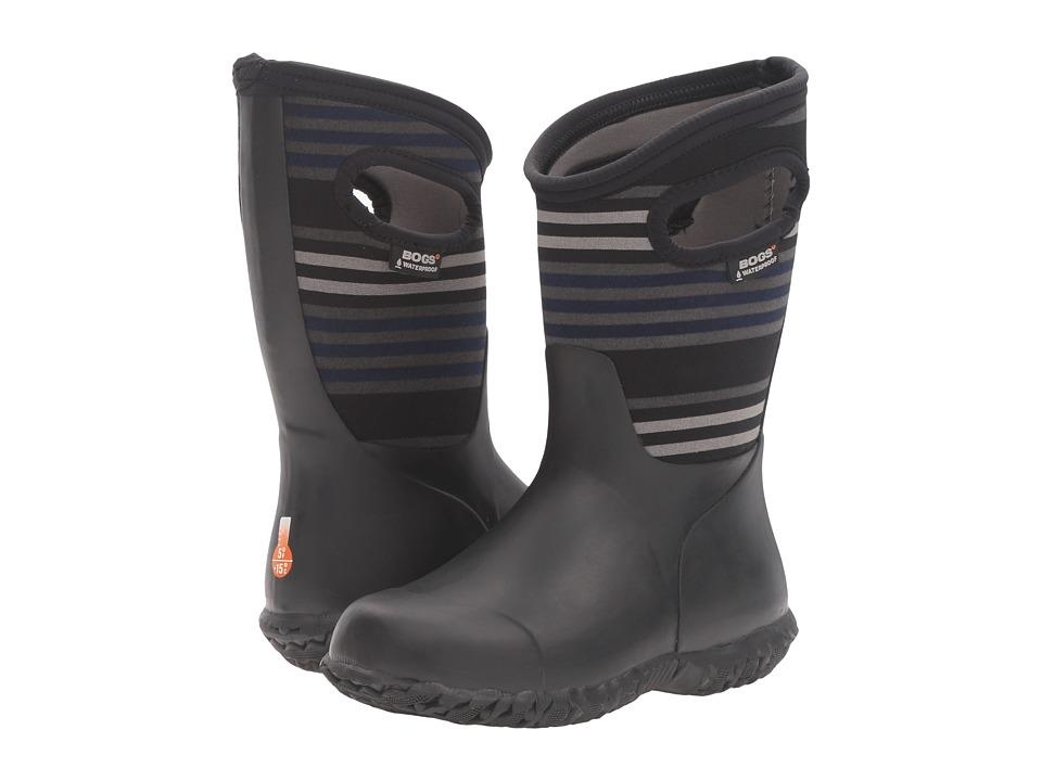Bogs Kids - Durham Varied Stripes (Toddler/Little Kid/Big Kid) (Black Multi) Boys Shoes